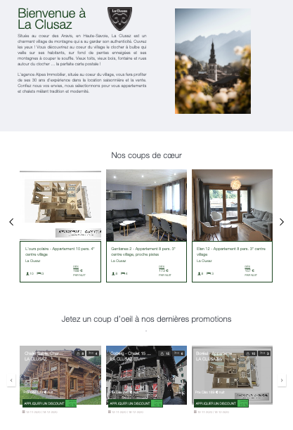 Site internet Alpes Immobilier