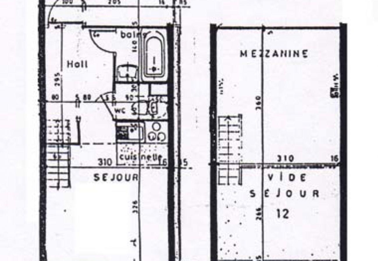 Apartment in La Clusaz - Richemont 12 - Duplex for 4 people 2* near ski slopes