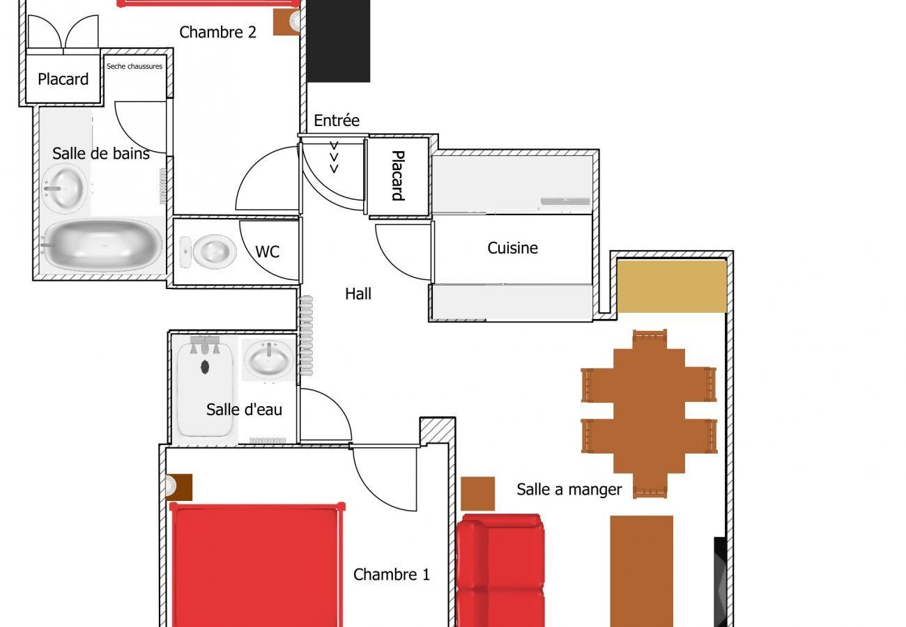 Apartment in La Clusaz - Elan 7- Flat  3 rooms 3*, Village centrer