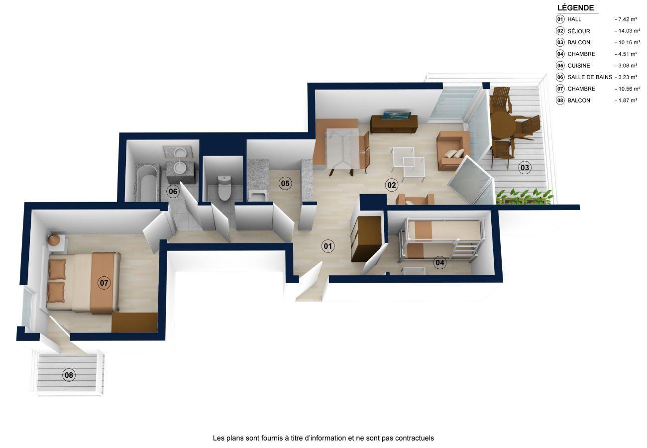 Apartment in La Clusaz - ELAN 15, 4/5 people, village center, 2*