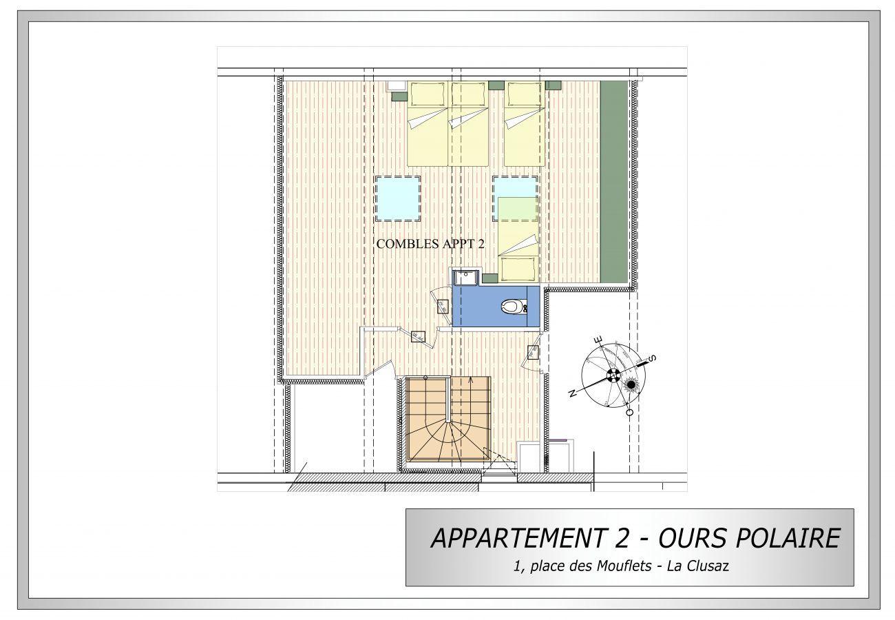Apartment in La Clusaz - L'ours polaire - Appartement 10 pers. 4* centre village