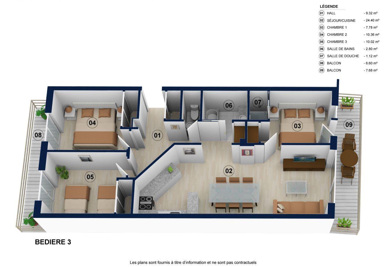 Appartement à La Clusaz - Bedière 3 - Appartement 8 pers. 3* centre village