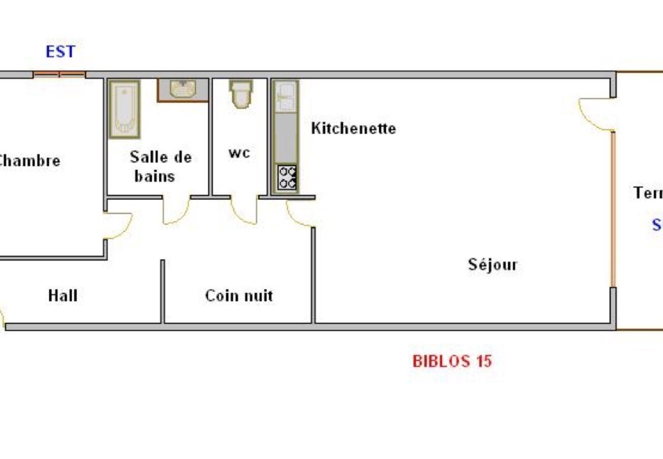 Appartement à La Clusaz - Biblos B15 - Appartement 4 pers. 2* proche village