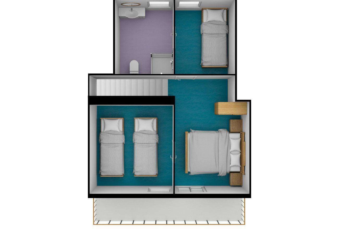 Chalet à La Clusaz - Ty menez 2 - Appartement dans chalet 9 pers. 2*, skis aux pieds