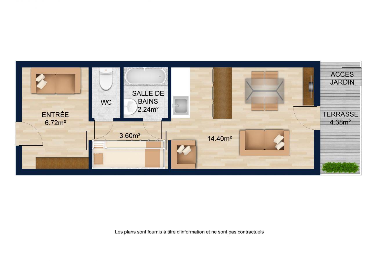 Studio à La Clusaz - Aravis B18 - Appartement 4/5 pers 2 *