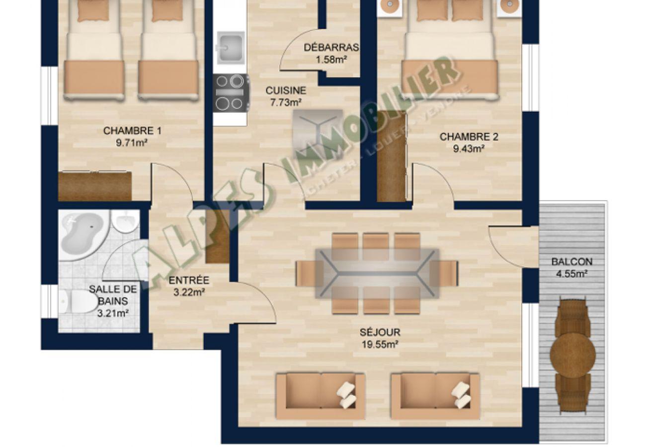 Appartement à La Clusaz - Référence 441